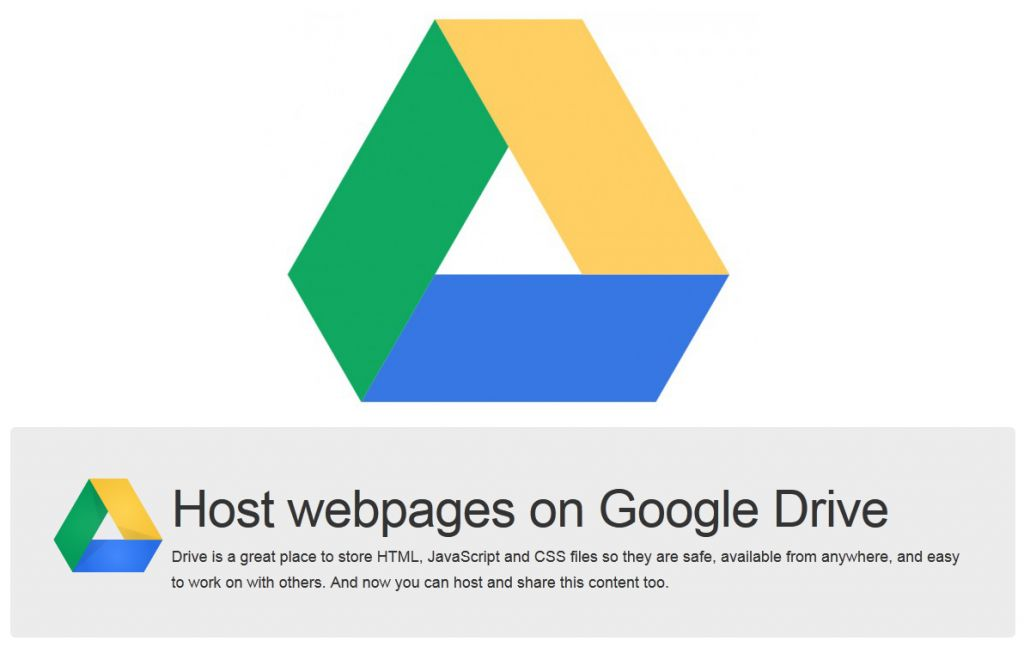 how to make a web in google drive